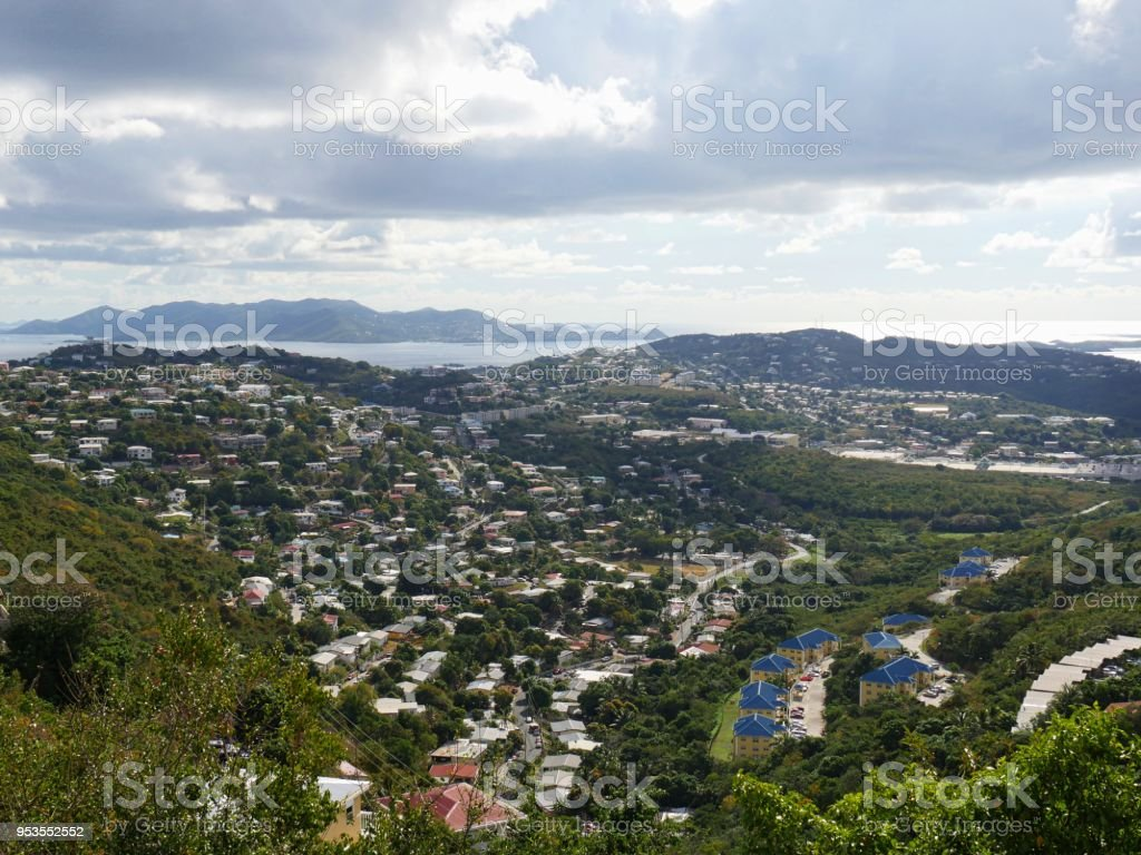 St. Thomas in the US Virgin Islands stock photo