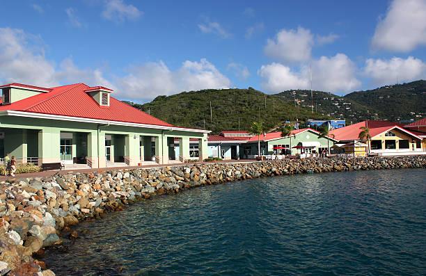 st. thomas island - plane kaufen stock-fotos und bilder