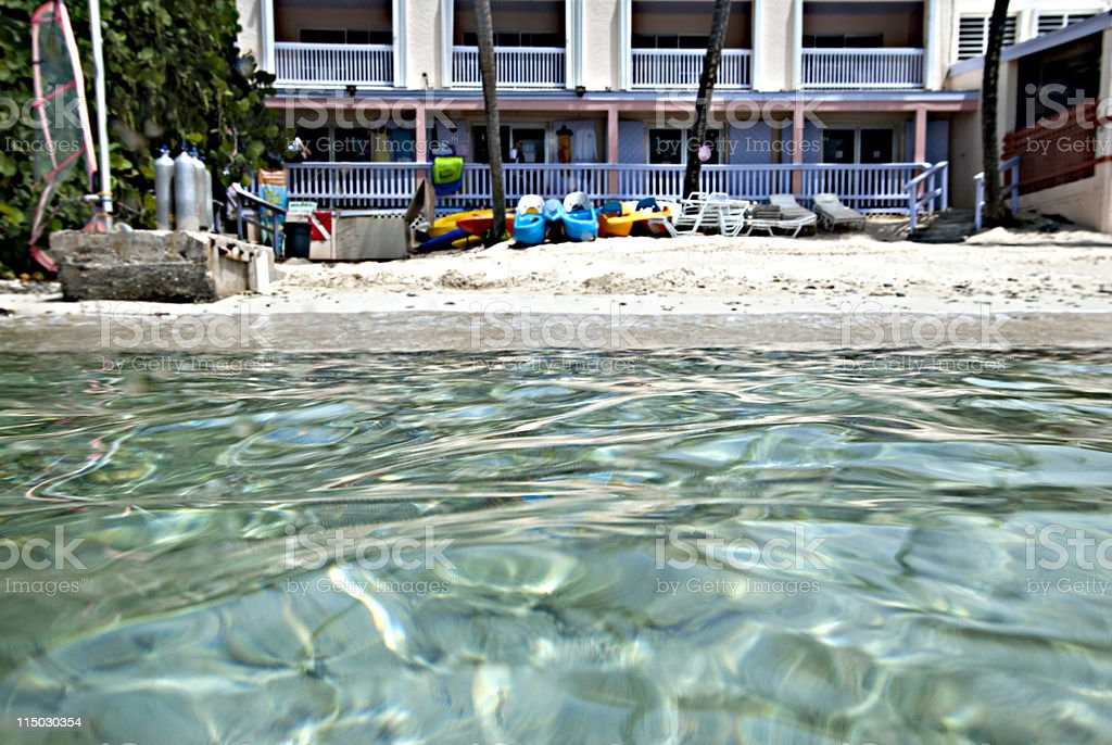 St Thomas under over water royalty-free stock photo