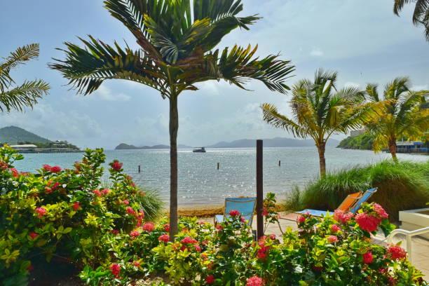 St. Thomas, US Virgin Islands Sapphire Beach stock photo