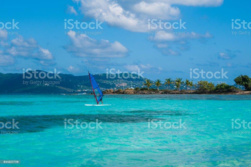 St. Thomas wind Surf stock photo