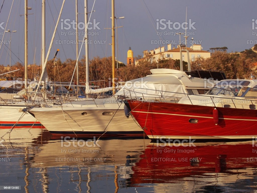 st tropez marina south of france cote d'azur royalty-free stock photo