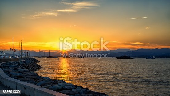 St Tropez Sunset Stock Photo & More Pictures of Colors