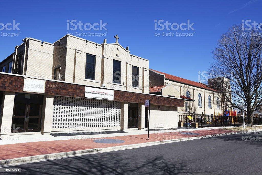 St. Turibius School in West Elsdon, Chicago royalty-free stock photo