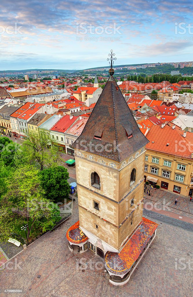 St. Urbans Tower in Kosice, Slovakia stock photo