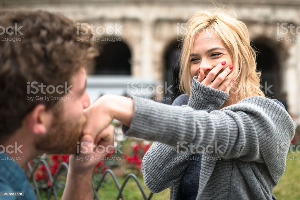 st. valentine dating in rome stock photo