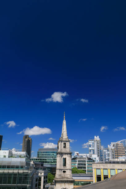 St Vedast-alias-Foster in City of London, England The spire of St Vedast Foster Lane in City of London, England alias stock pictures, royalty-free photos & images
