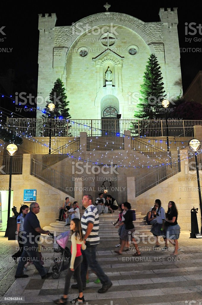 St. Vincent de Paul Monastery in Jerusalem Israel stock photo