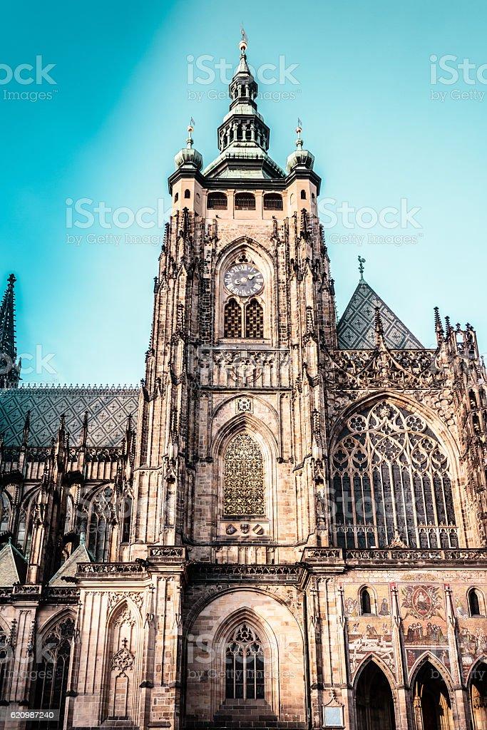 St. Vitus Cathedral at Prague, Czech Republic stock photo