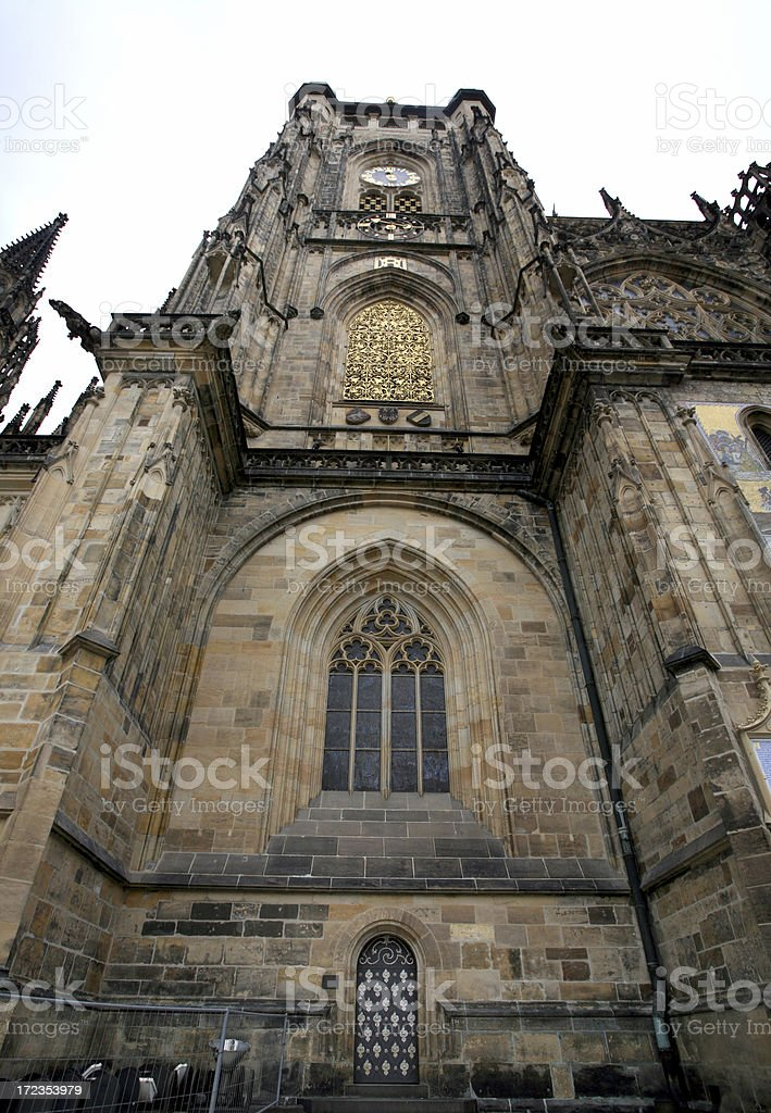 St. Vitus' Cathedral Exterior, Prague royalty-free stock photo