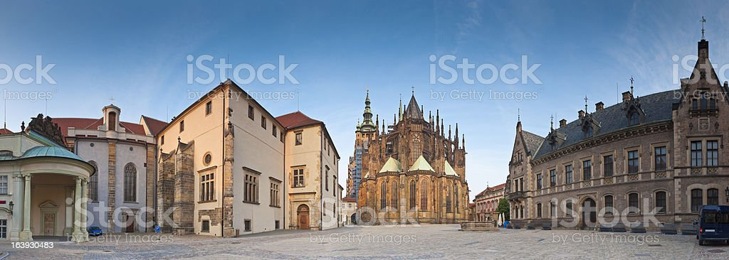 St Vitus Cathedral, Hradcany Castle, Prague stock photo