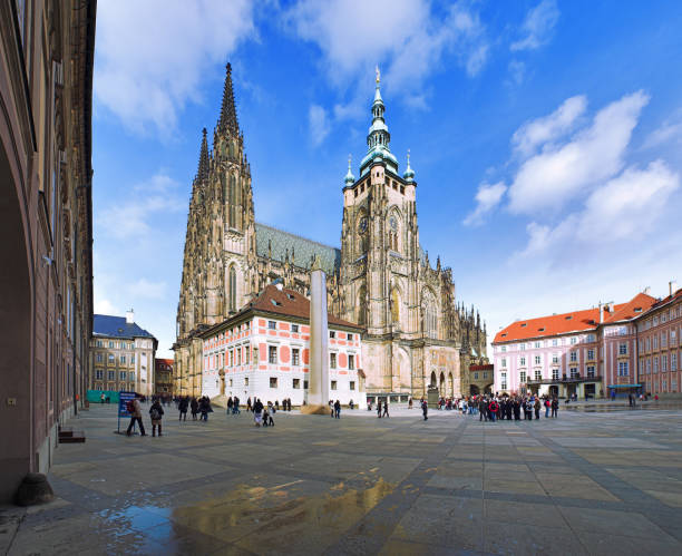 St. Vitus Cathedral in Prague, Czech Republic stock photo