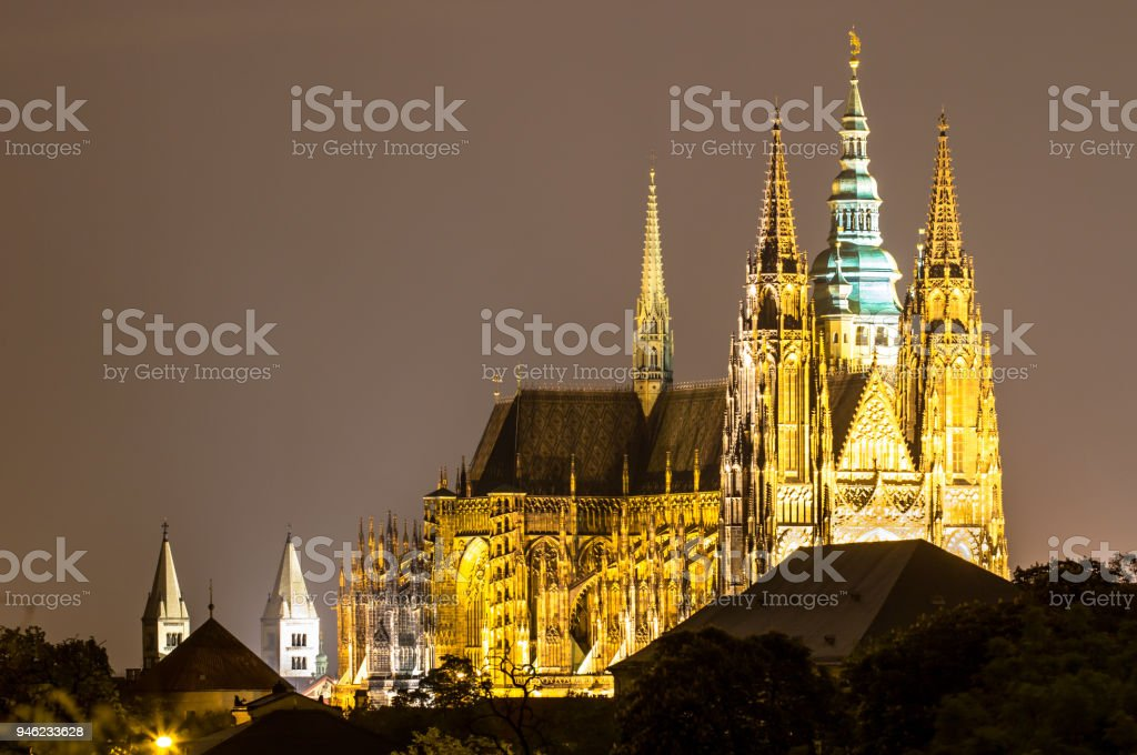 St. Vitus Cathedral of Prague, Czech Republic stock photo