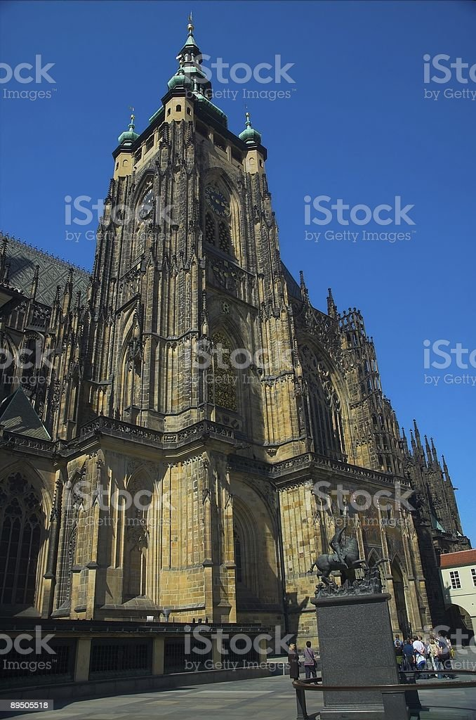St. Vitus cathedral royalty free stockfoto