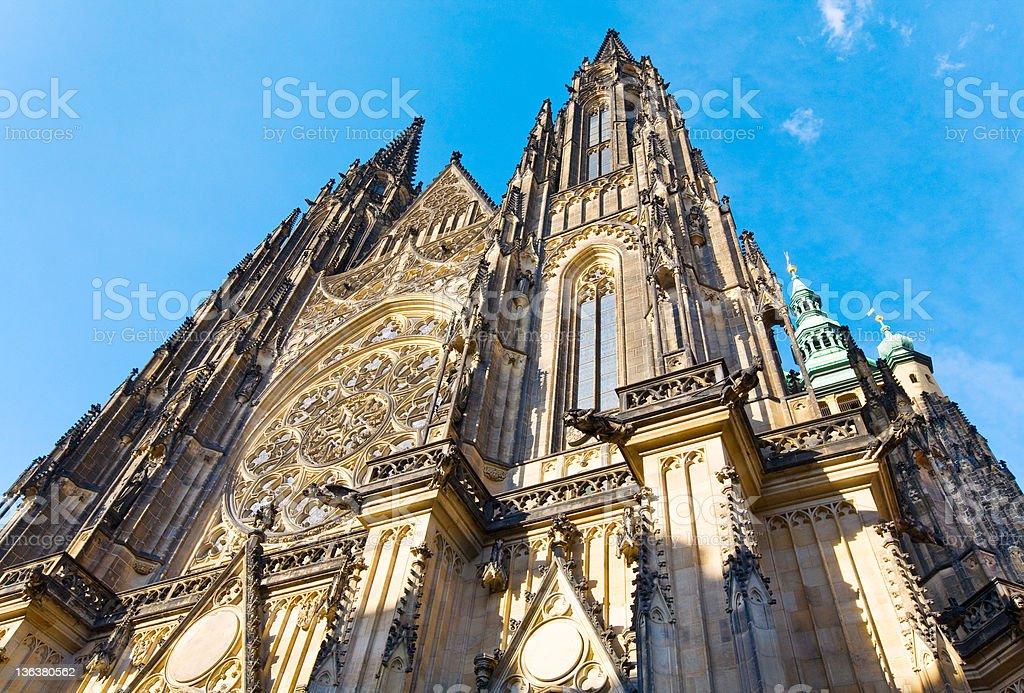 St. Vitus Cathedral , Prague, Czech Republic royalty-free stock photo