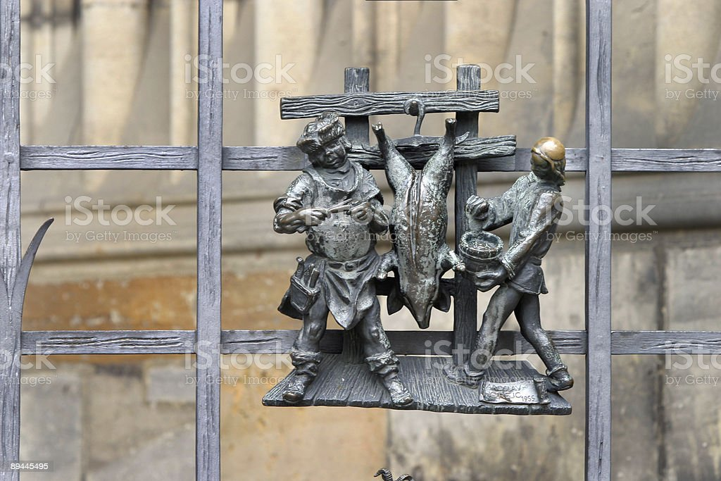 St. Vitus's Cathedral Exterior Detail, Prague royalty-free stock photo
