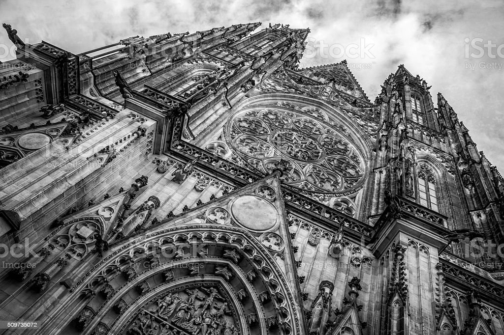 St. Vitus's Cathedral in Prague Czech Repulic stock photo