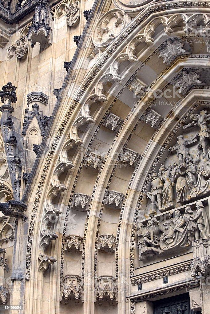St. Vitus Katedra gotycka s Arch drzwi, Praga zbiór zdjęć royalty-free