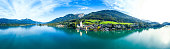 St. Wolfgang village and Wolfgangsee, famous lake in Salzkammergut, Austria.