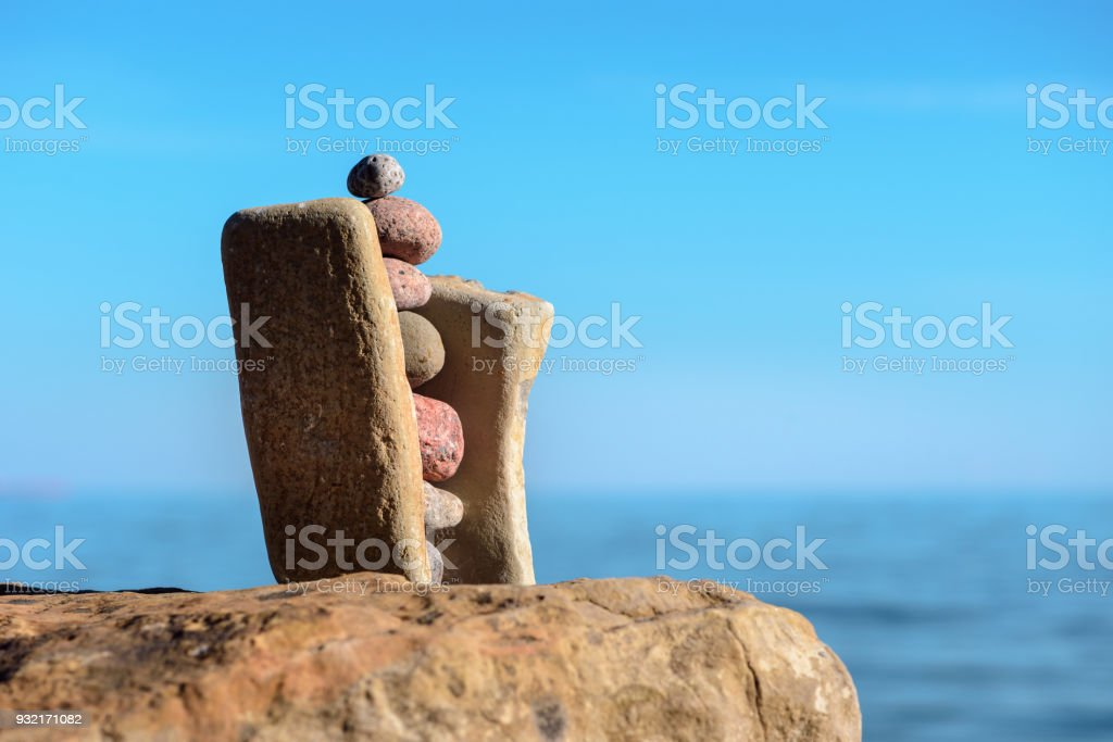 Stability of stones stock photo