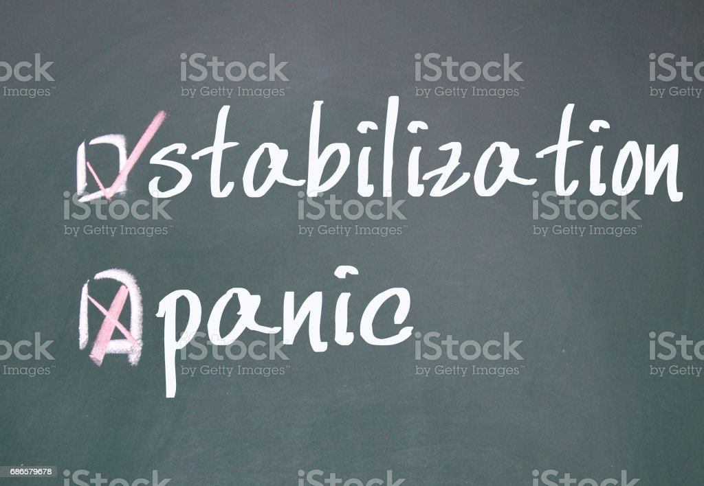 stabilization or panic determine foto stock royalty-free