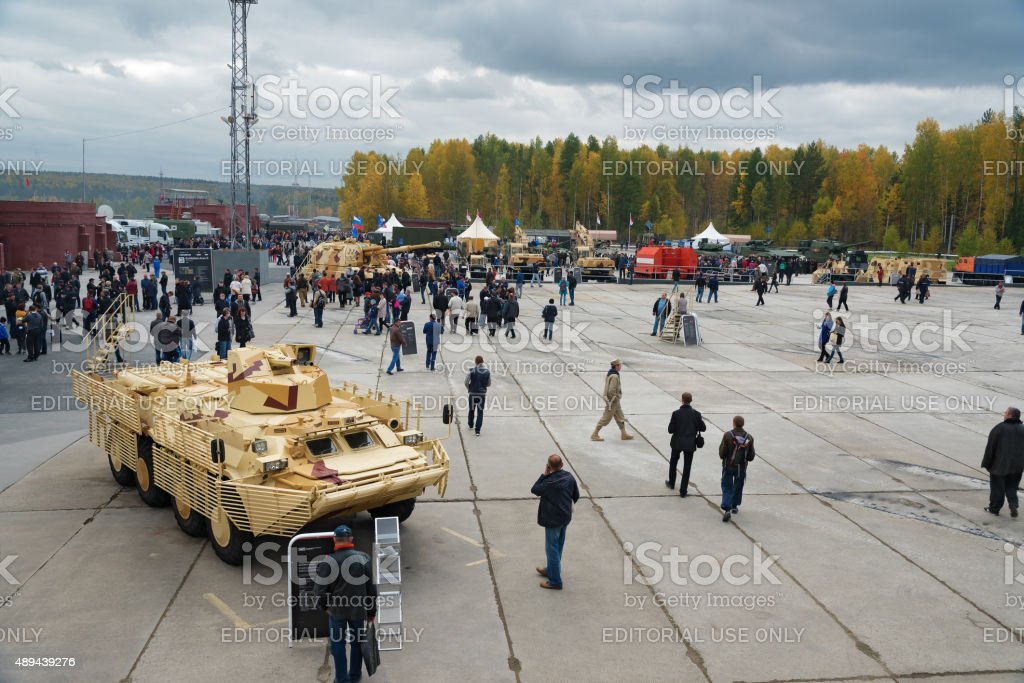 Stabilized remote-controlled weapon station 6S21 stock photo