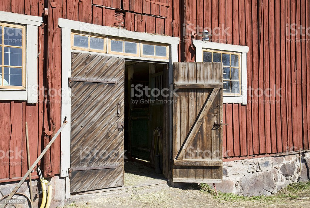 Stable doors stock photo