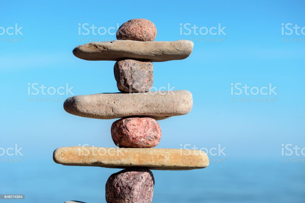 Stable stack stones stock photo