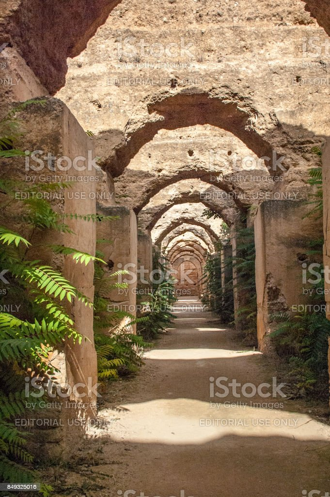 Stables of Sultan Moulay Ismail stock photo