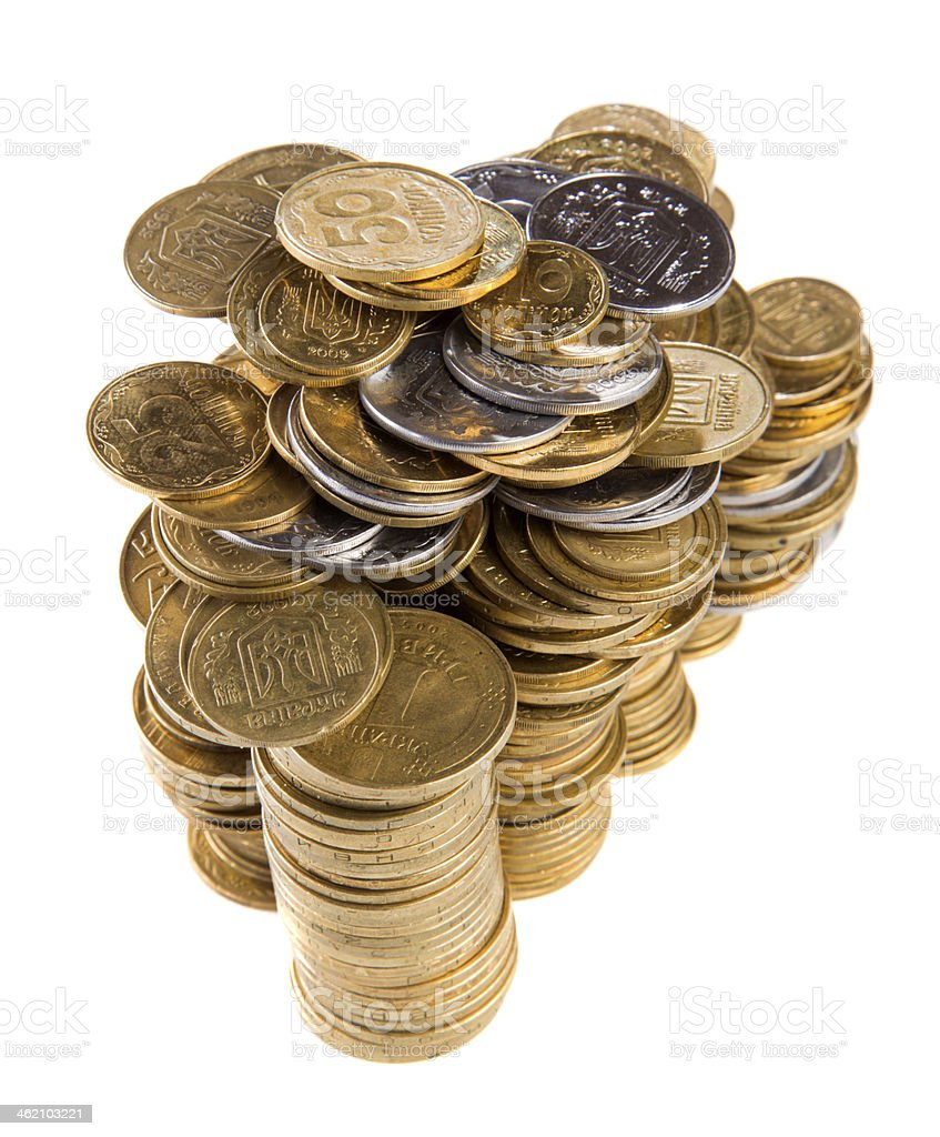 stack cents stock photo