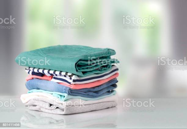 Stack colorful cotton clothes on table empty space background picture id831411456?b=1&k=6&m=831411456&s=612x612&h= xpc3sbtbnjzqxexe0w1sbjglfacolydnlbgr0szggw=