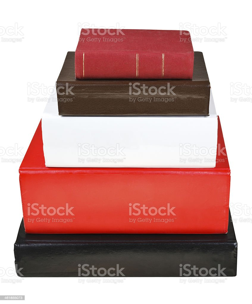stack different sizes books royalty-free stock photo
