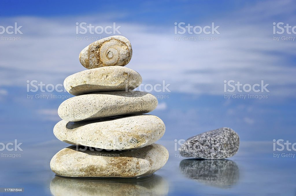 Stack in the beach royalty-free stock photo