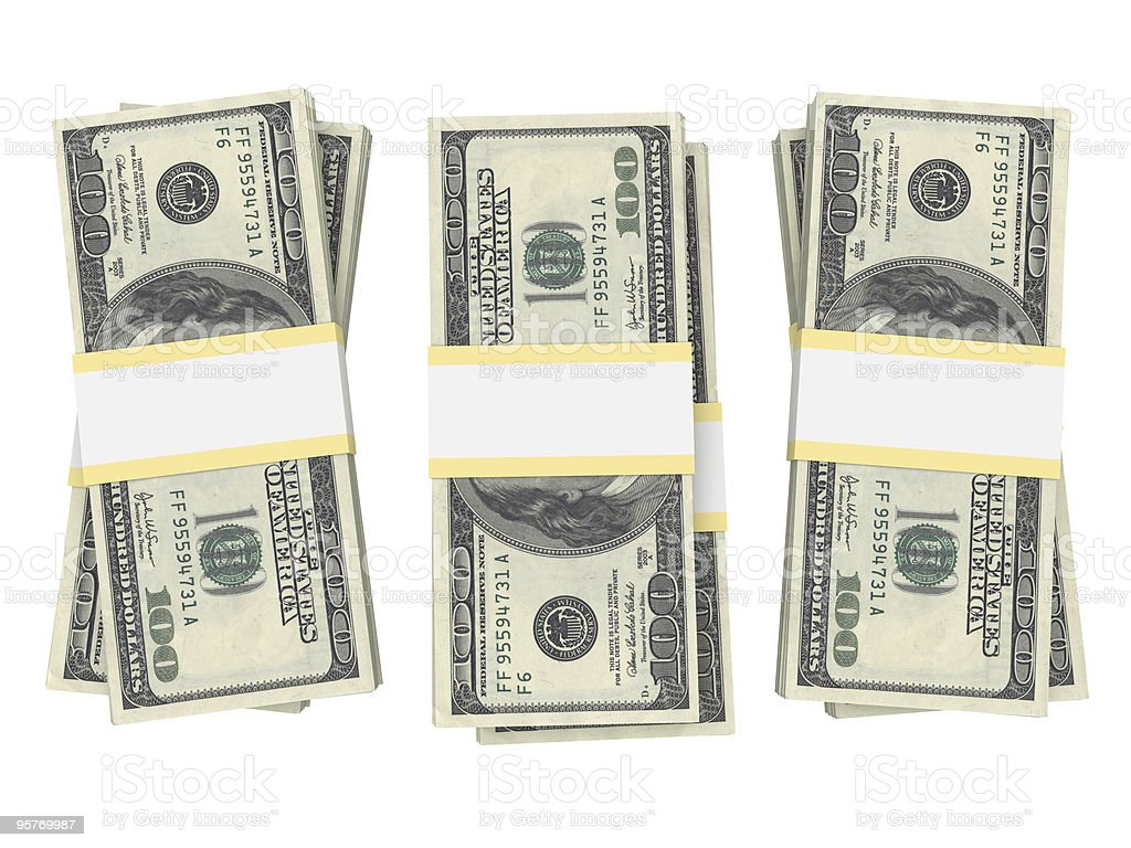 Stack of $100 Bills royalty-free stock photo