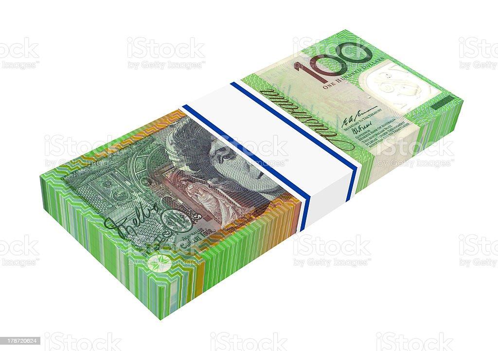 Stack of 100 dollars bills royalty-free stock photo