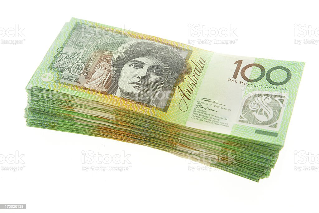 Stack of 100s stock photo