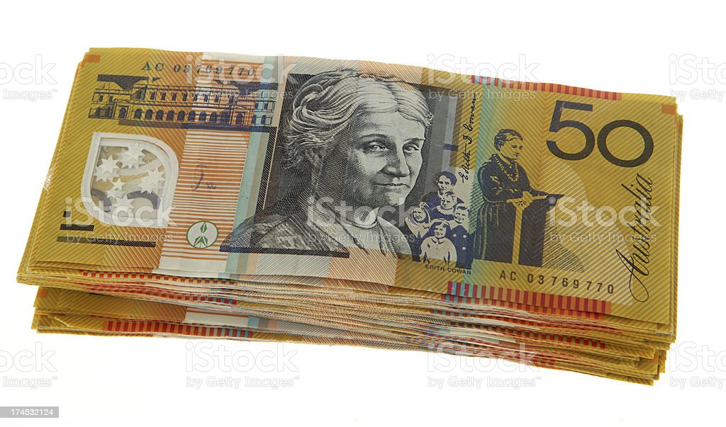 Stack of 50s stock photo