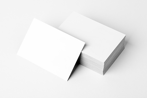 Stack of a blank business card