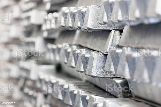 Stapel Von Aluminium Ingots Stockfoto und mehr Bilder von Aluminium