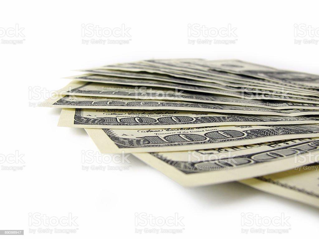 Куча Американский доллар банкноты изолированные Стоковые фото Стоковая фотография