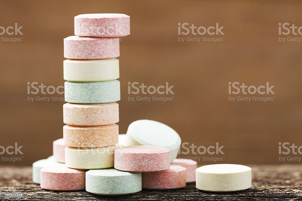 Stack of Antacid Tablets stock photo