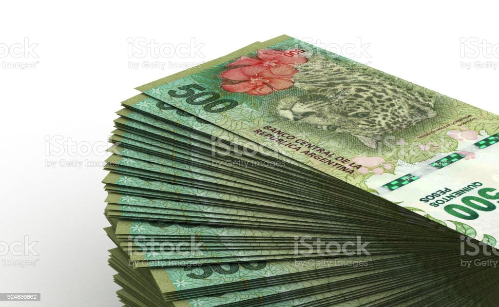 Stack of Argentina Pesos stock photo