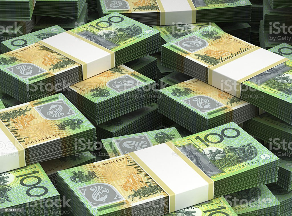 Stack of Australian Dollar stock photo