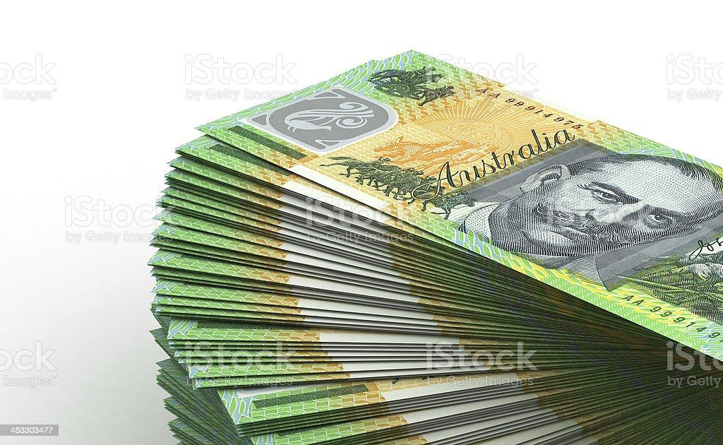 Stack of Australian Dollar royalty-free stock photo