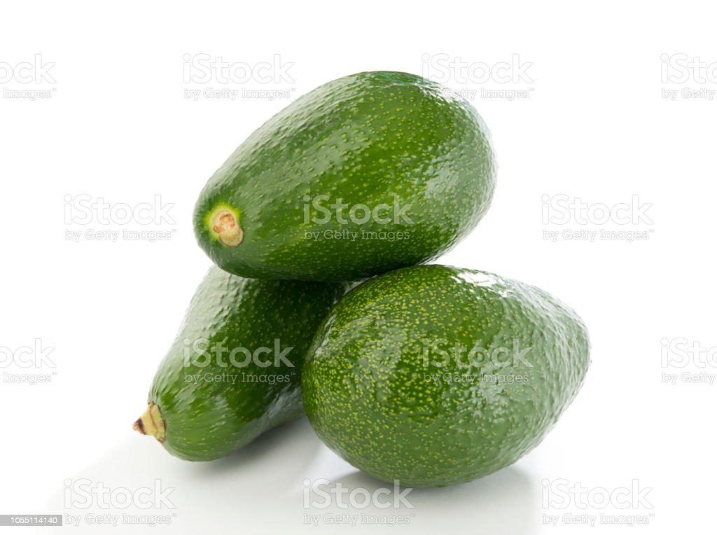 Stack of Avacados Isolated stock photo