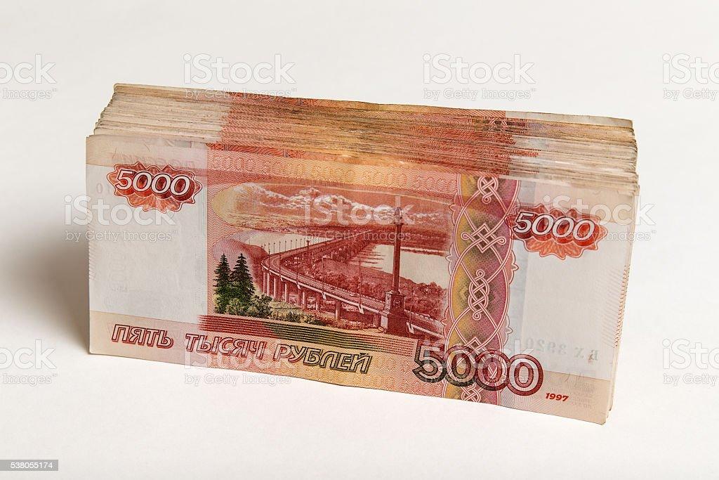 Pila de billetes de banco - foto de stock