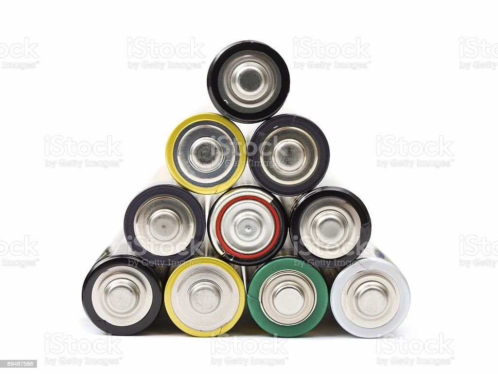 Stack of battery royalty-free stock photo