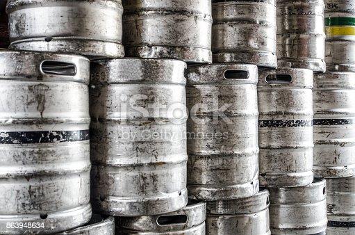 Stack of beer kegs in Dubling