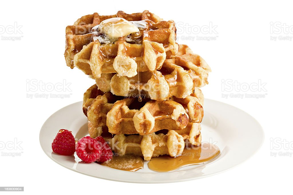 Stack Of Belgian Waffles stock photo
