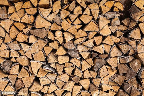 Photo of Stack of Birch Firewood